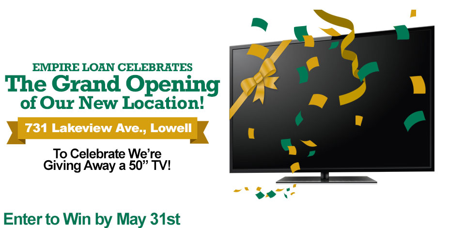 TV Giveaway | Empire Loan